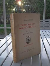 VARIAS POESIAS SAGRADAS Y PROFANAS BY ANTONIO DE SOLIS 1968