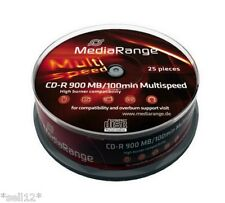 4x MR222] 100 x Mediarange CD-R Rohling 100 Min 900 MB 48x Rohlinge inkl. Gema