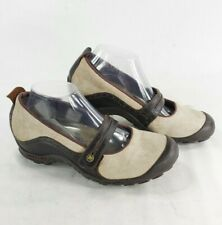 MERRELL Plaza Bandeau Dark Taupe Mary Jane Suede Shoes Comfort Casual sz 9.5