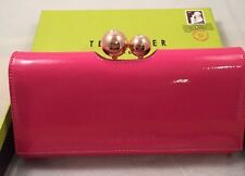 Ted Baker Crystal Top Fold Matinee Purse Mid Pink with box