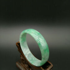 For Slim 52mm Vintage Natural Certified A with Young Green Jadeite Jade Bangle