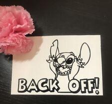 Lilo And Stitch Disney Back Off Car Window Decal Sticker
