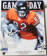 2009 Chicago Bears vs. St. Louis Rams Program Greg Olsen Cover