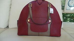 Marc Jacobs Bordeaux Brown Leather Handbag Satchel Bag