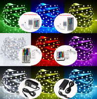 20M 15M 10M 5M LED RGB Color Change Strip Light Kit Flexible Dimmable Waterproof