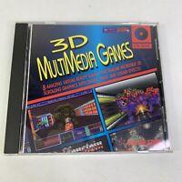 Vintage 1994 3D MultiMedia Games CD-ROM 8 Lot Rare Virtual Reality PC Games DOOM
