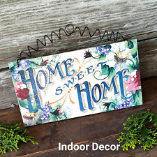 Home Sweet Home  DecoWords EXCLUSIVE! Cottage Roses WOODEN SIGN Indoor Decor USA