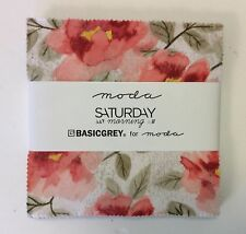 "SALE - Saturday Morning by BasicGrey for Moda  - fabric Charm Pack - 5"" squares"