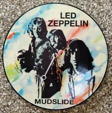 1970 Led Zeppelin Mudslide Picture Record 33RPM Made Into Hanging Wall Clock 🔥