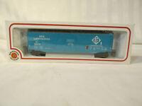 BACHMANN ERIE LACKAWANNA HO scale CUSHIONED CAR blue RAILROAD VILLAGE TRAIN