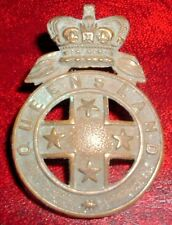 CAP BADGES-AUSTRALIAN 'QUEENSLAND' VICTORIAN/BOER WAR GENERAL ISSUE HAT BADGE