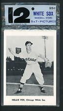 1961 Chicago White Sox JAY PUBLISHING SET of 12 PLAYER PHOTOS Nellie Fox Minoso