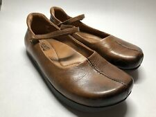 Kalso Earth Shoe Solar Almond Brown Leather Mary Jane Shoes - Women's 6.5 B