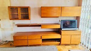 Mid Century Retro Tapley 33 Teak Cupboards Cabinets