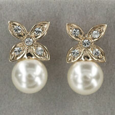Butterfly Fastening Pearl Rose Gold Filled Fashion Earrings