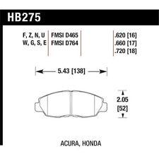Hawk HB275B.620 Hi-Perf. Street 5.0 Front Disc Brake Pad Fits 96-02 Accord/Civic