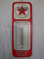 TEXACO Gasoline and Motor Oil Thermometer Metal Sign Chevy Ford Mopar GarageS239