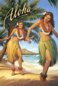 Aloha Hawaii & South Sea Isles travel fine art prints set of 2 Kerne Erickson