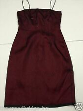 LAUNDRY BY SHELLI SEGAL SIZE 6 RED/BLACK BEADED LADIES SLEEVELESS LINED DRESS 7T