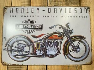 HARLEY Vintage Tin Bar Sign Motorcycle Man Cave Free Shipping Finest Motorcycle