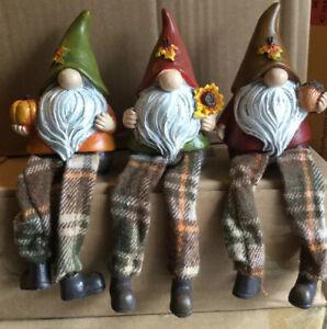 Harvest Gnome Sitter Set Of 3