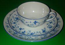 Arzberg Blaublüte Mokkagedeck / kleine Teetasse mit Kuchenteller und Unterteller