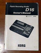 Genuine Yamaha D16 recording studio instruction owner's manual user's guide book