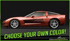2006-2013 C6 Chevy Corvette Strobe Vinyl Decal Stripes 07 08 09 10 11 12