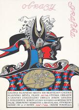 Original Vintage Poster Polish Graphic Images Exhibition 1978
