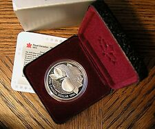 1996 Canadian 1 Dollar Silver Proof - KM# 274   McIntosh Apple