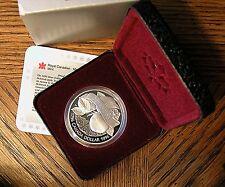 1996 Canadian 1 Dollar Silver Proof - KM# 274  McIntosh Apple
