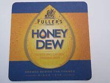 Beer COASTER: FULLER'S Brewery Organic Honey Dew Golden Brew ~ ENGLAND; Est 1845