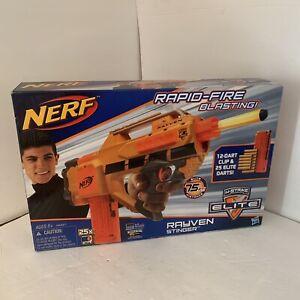Nerf N-Strike Elite Stinger Rayven CS-12 Motorized Blaster Gun RARE DISCONTINUED