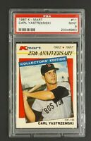 1987 K-Mart #11 Carl Yastrzemski Boston Red Sox HOF PSA 9 Mint Low Pop