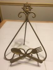 Decorative Metal Cookbook Stand Holder