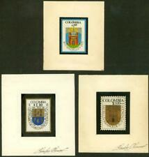 Colombia 1975 Arms of Medellin 1p hand-colored ESSAY