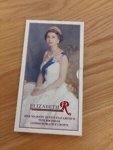 1996 Queen Elizabeth II 70th Birthday £5 Crown Coin Royal Mint Presentation Pack