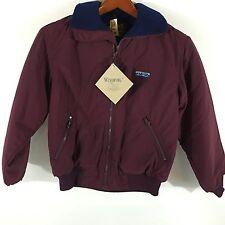 Eddie Bauer 100% Nylon Polyester Fleece Lined Maroon Women's Jacket Small S NWT
