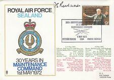 RAF Sealand 30 Years maintenance Command Signed AM J S Rowland GC Holder