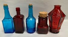 """Lot Of """"5"""" Vintage Bitters & Other Product Wheaton Glass Bottle Bottles (A5)"""
