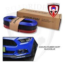 SAMURAI Rubber Bumper Lip Skirt Chin Protector (Black/Blue)