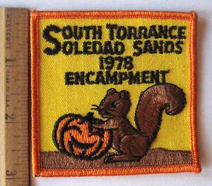 Girl Scout Patch MOJAVE PRIMITIVE ENCAMPMENT TRYOUT UNION CARBIDE TORRANCE Pick
