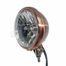 """5 3/4"""" Bottom Mount Headlight Copper style for Cafe Bobber motorcycle"""