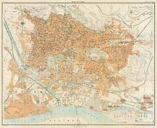 Cairo Historical City Map, 1906 (Guides Joanne,Hachette&Cie)Vintage Poster Print