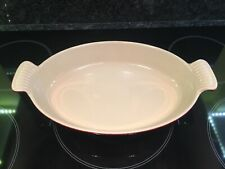 Le Creuset Red Oval Shape Size 28 Cooking / Baking / Roasting Dish. See Photos.