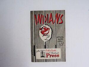 1951 Cleveland Indians Program Scorecard Feller Williams - FLASH SALE