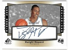 DWIGHT HOWARD 04 UD SP GAME USED ROOKIE EXCLUSIVES AUTO AUTOGRAPH CARD #1/100!