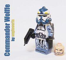 LEGO Custom Commander Wolffe Star Wars Clone Trooper Minifigure wolf pack 75157