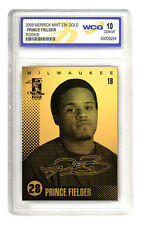 2006 PRINCE FIELDER 23K GOLD ROOKIE CARD - GEM-MINT 10