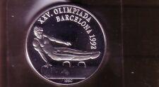 10 PESOS Silber Seitpferd-Turnen Barcelona 1992 (intern:olymunze:21 )